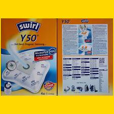 4  Staubsaugerbeutel Swirl Y50 für Trisa 9433 Royal