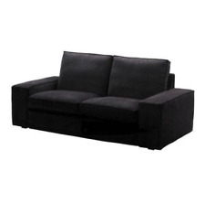 Original SLIPCOVER for KIVIK Loveseat (2-seat Sofa) from IKEA, Tranas Black, NEW