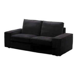 "Original SLIPCOVER for the 74 3/4"" wide KIVIK Sofa (Loveseat), Tranas Black, NEW"