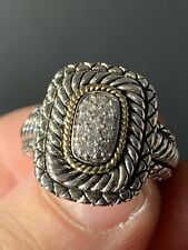 Andrea Candela Sterling /18k Yellow Gold Round Diamond Ring Size 7 1/4