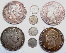 4 Silber Münzen Niederlande 1936-1939