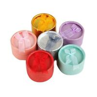 Case Bowknot Ribbon Round Jewelry Packing Paper box Gift Boxes Jewelry Boxes