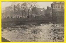 cpa RARE Carte Photo CAEN (Calvados) INONDATION CRUE 1910 Prise du QUAI HAMELIN