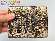 Unique-Genuine Crocodile/Alligator Skin Wallet - Men's Bifold Wallets