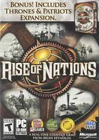 Rise of Nations + Rise of Nations: Thrones & Patriots - PC - Brand New