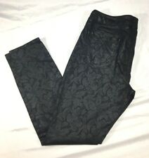 MUDD Womens Pants Sz 13 Black with Lace Print Pattern Stretch Skinny Leg