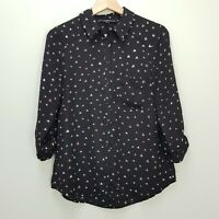 [ PORTMANS ] Womens Heart Print Long Sleeve Blouse Top | Size AU 10 or US 6