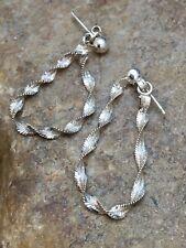 Swirl Sterling Silver Dangle Earrings 8977