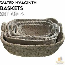 Water Hyacinth Decorative Baskets with Handle