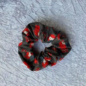 Handmade Black Widow Marvel Avenger Alternative Scrunchie Hair Tie Bobble