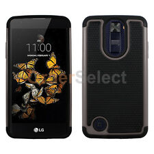 NEW Hybrid Rubber Hard Case for Android Phone LG Aristo LV3 (K8 2017) Gray HOT!