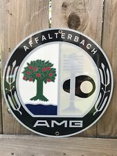 Mercedes Benz AMG premerger Classic racing garage Round Metal sign
