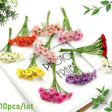10pcs Artificial Silk Mini Flower Daisy Bouquet DIY Wedding Bride Brooch Decoro,