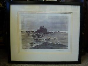 Kyffin Williams RA Framed limited edition signed print Eglwys Cwyfan Anglesey