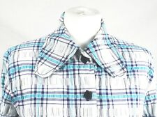 Ladies Vintage 70's Blue Check Cotton Shirt/Jacket