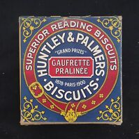 Boite publicitaire Biscuit HUNTLEY & PALMER factice d'épicerie en carton tin box
