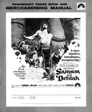 SAMSON AND DELILIAH pressbook, Hedy Lemarr, George Sanders, CECIL B DeMILLE