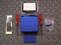 Game Boy Advance SP Replacement Housing Shell  Cobalt Blue + Screen Lens
