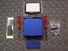 Game Boy Advance SP Replacement Housing Shell  Cobalt Blue + Screen Lens