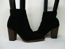 Sam Edelman Blake Black Suede Leather Zip High Heel Ankle Boots Womens Size 10 M