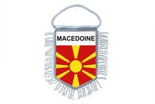 Mini banner flag pennant window mirror cars country banner macedonia