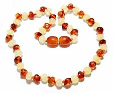 Genuine Baltic Amber Beads Baby Necklace Butter Cognac 12.2 - 13 in