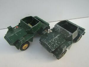 2 x Vintage BRITAINS Ltd Scout Car Daimler MKII Military Vehicles