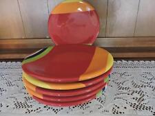 """Sonoma Life Style Colorfest 8 1/2"""" Salad Plate, Multi-Color Stripes, DW, MW Safe"""