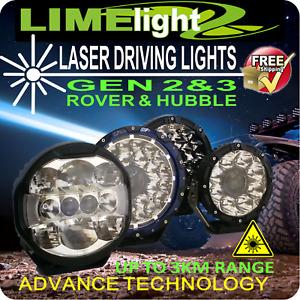 LASER DRIVING LIGHTS SPOT LIGHTS 7/8.5/9 INCH SPOT FLOOD 3RD GEN TWIN LASER AU