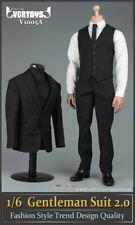"""VORTOYS 1/6 Black Man's Gentleman Suit Clothing Sets Fit 12"""" Male Figure Bodies"""