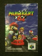 Mario Kart 64 Manual Booklet | Nintendo 64 N64 | Very Good Condition PAL