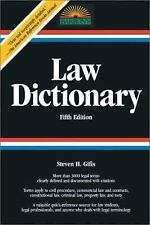 Law Dictionary by Stephen H. Gifis