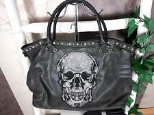Totenkopf Handtasche Skull XL Shopper  Schultertasche Strass Hingucker