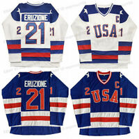 Mike Eruzione #21 O'Callahan #17 USA 1980 Olympic Games Men Hockey Jersey Sewn