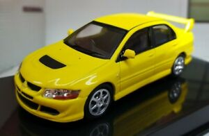 1:43 Mitsubishi Lancer Evo VII 8 IX 9 2006 Yellow Diecast Scale Model Car