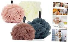Bath Loofah Sponge Pouf, Large Body Shower Mesh Bathing Shower Supplies 4Pack