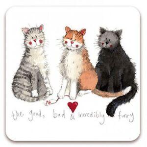 "Alex Clark Cat Kitten Cute Fridge Magnet ""The Good, Bad & Incredibly Furry"" Gift"
