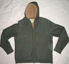 5ff9d304c J. Crew Green Sherpa Outerwear Fleece Full Zip Hoodie Hooded Sweatshirt  Men's XL