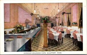 Postcard Interior Splendid Cafe in Gulfport, Mississippi~139393