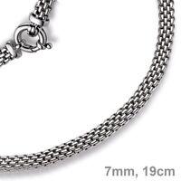 7mm Armband Armkette Himbeere aus 585 Gold Weißgold 19cm Armschmuck Goldarmband