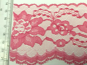 75mm Coloured lace edging 5m or 33m card beautiful colours