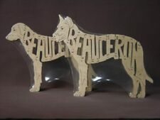 NEW Beauceron Dog Wood Amish Made Scrolled Toy Puzzle