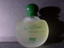 "Rare Miniature De Parfum ""Que Je T'aime Tendresse"" Johnny Hallyday"