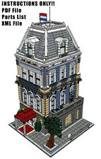 Lego Custom Modular Building - Amsterdam Hotel - INSTRUCTIONS ONLY!! 10185 10182