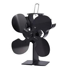 4 Blade Wood Stove Fan Fireplace Fire Heat Powered Saving Ecofan Silent