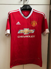 SIZE S MANCHESTER UNITED 2015 2016 HOME FOOTBALL JERSEY SHIRT ADIDAS