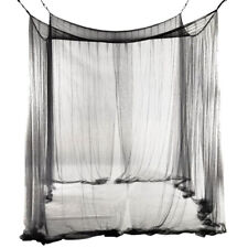 4 Corner Post Bed Canopy Mosquito Net Full Queen King Size Netting Bedding Decor