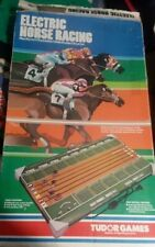 VINTAGE 1979 TUDOR ELECTRIC HORSE RACING GAME WITH 6 HORSES AND INSTRUCTIONS