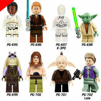 STAR WARS CUSTOM MINI FIGURES BUILDING BLOCK TOYS UK SELLER - 8 Pcs set