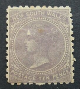 nystamps British Australian States New South Wales Stamp # 91 Mint OG H S24x1548